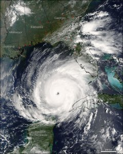hurricane satellite view